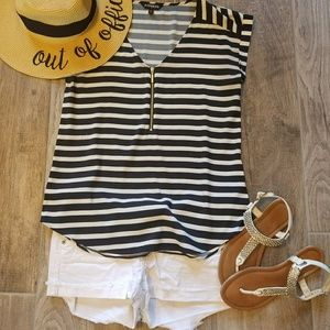 Striped dress top